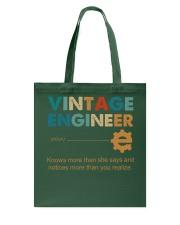 Vintage Engineer Knows More Than She Says Tote Bag thumbnail