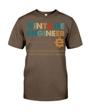 Vintage Engineer Knows More Than She Says Classic T-Shirt thumbnail