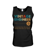 Vintage Engineer Knows More Than She Says Unisex Tank thumbnail