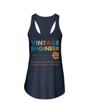 Vintage Engineer Knows More Than She Says Ladies Flowy Tank thumbnail