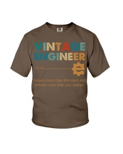 Vintage Engineer Knows More Than She Says Youth T-Shirt thumbnail