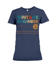 Vintage Engineer Knows More Than She Says Premium Fit Ladies Tee thumbnail