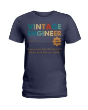 Vintage Engineer Knows More Than She Says Ladies T-Shirt thumbnail