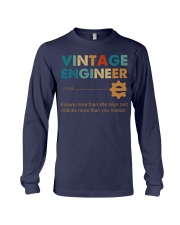 Vintage Engineer Knows More Than She Says Long Sleeve Tee thumbnail