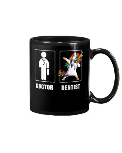 Unicorn Dabbing Dentist Men
