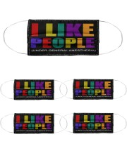 I Like People Cloth Face Mask - 5 Pack front