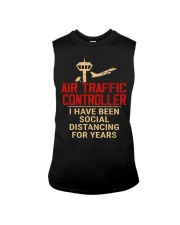 Air Traffic Controller Social Distancing Sleeveless Tee thumbnail