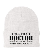 Doctor I Dont Want To Look At It Knit Beanie thumbnail