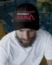 Never Underestimate Old Man With Scalpels Embroidered Hat garment-embroidery-hat-lifestyle-06