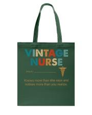 Vintage Nurse Knows More Than She Says Tote Bag thumbnail