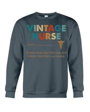 Vintage Nurse Knows More Than She Says Crewneck Sweatshirt thumbnail