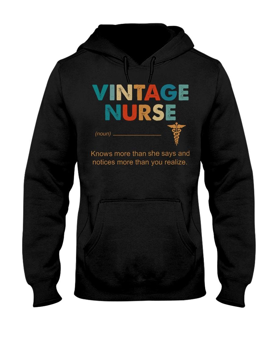Vintage Nurse Knows More Than She Says Hooded Sweatshirt