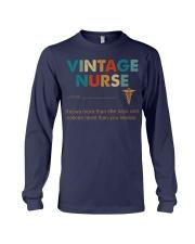 Vintage Nurse Knows More Than She Says Long Sleeve Tee thumbnail