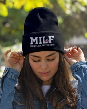 MILF Man I Love Firefighting Knit Beanie garment-embroidery-beanie-lifestyle-07