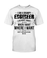 I Am A Grumpy Engineer Classic T-Shirt front