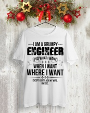 I Am A Grumpy Engineer Classic T-Shirt lifestyle-holiday-crewneck-front-2