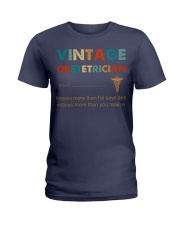 Vintage Obstetrician Knows More Than He Says Ladies T-Shirt thumbnail