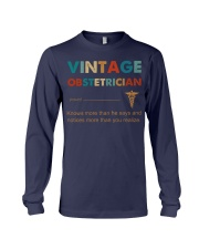 Vintage Obstetrician Knows More Than He Says Long Sleeve Tee thumbnail