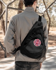 First In Last Out Firefighter Sling Pack garment-embroidery-slingpack-lifestyle-05