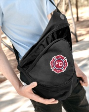 First In Last Out Firefighter Sling Pack garment-embroidery-slingpack-lifestyle-08