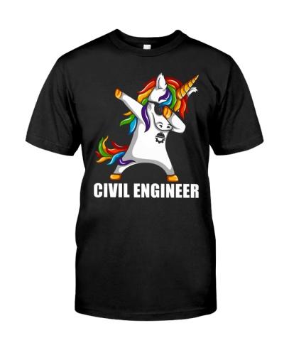 Civil Engineer Unicorn Dabbing