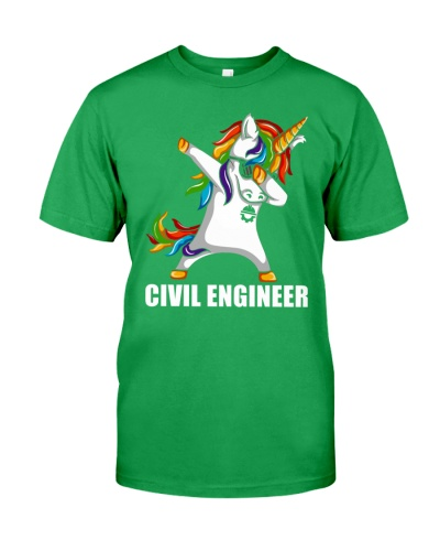 Civil Engineer Unicorn Dabbing