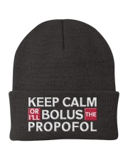 Keep Calm Or I Will Bolus The Propofol Anesthesia Knit Beanie tile