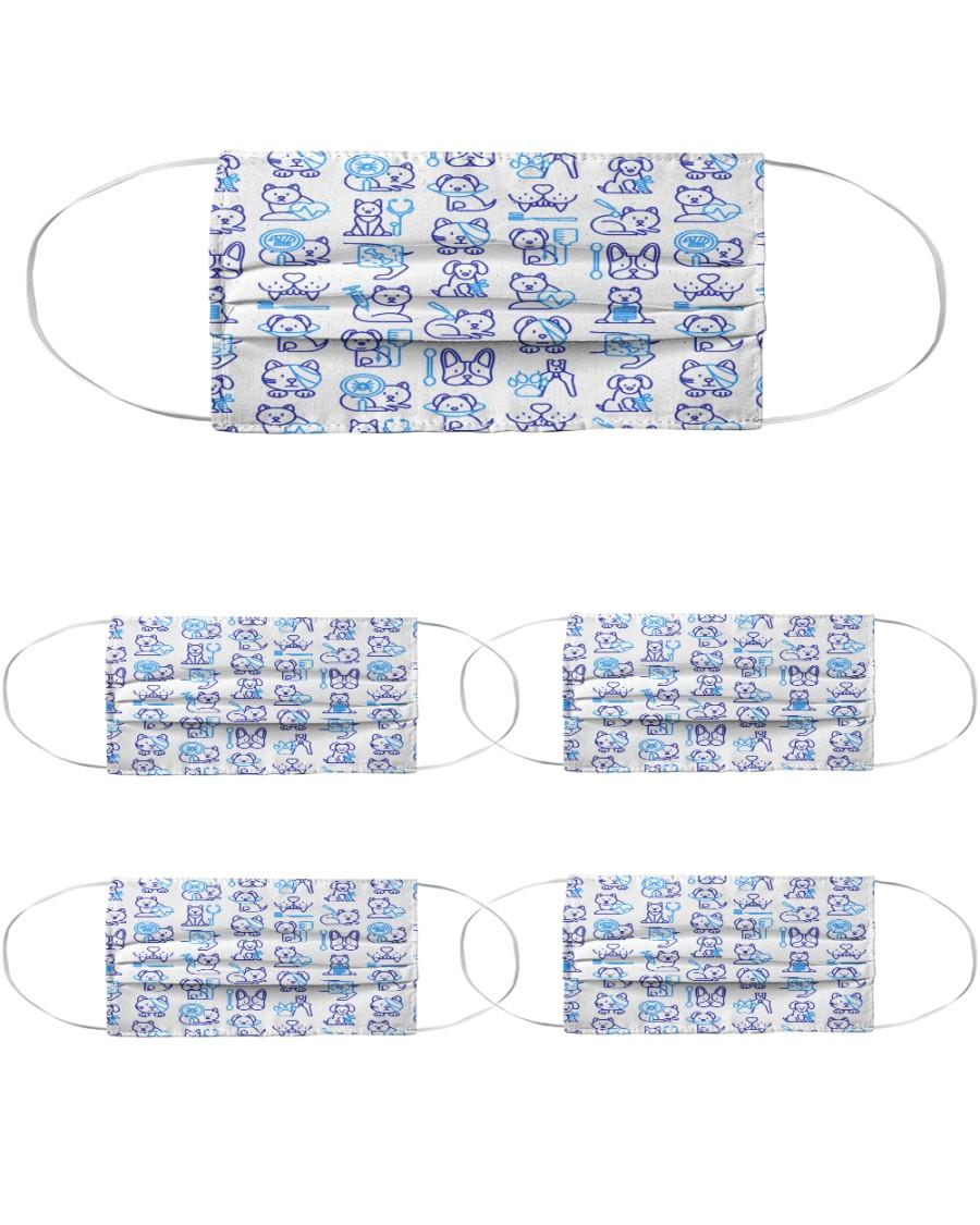 Vet Pattern Cloth Face Mask - 5 Pack