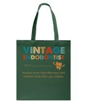 Vintage Endodontist Knows More Than She Says Tote Bag thumbnail