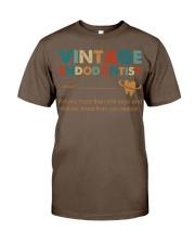 Vintage Endodontist Knows More Than She Says Classic T-Shirt thumbnail