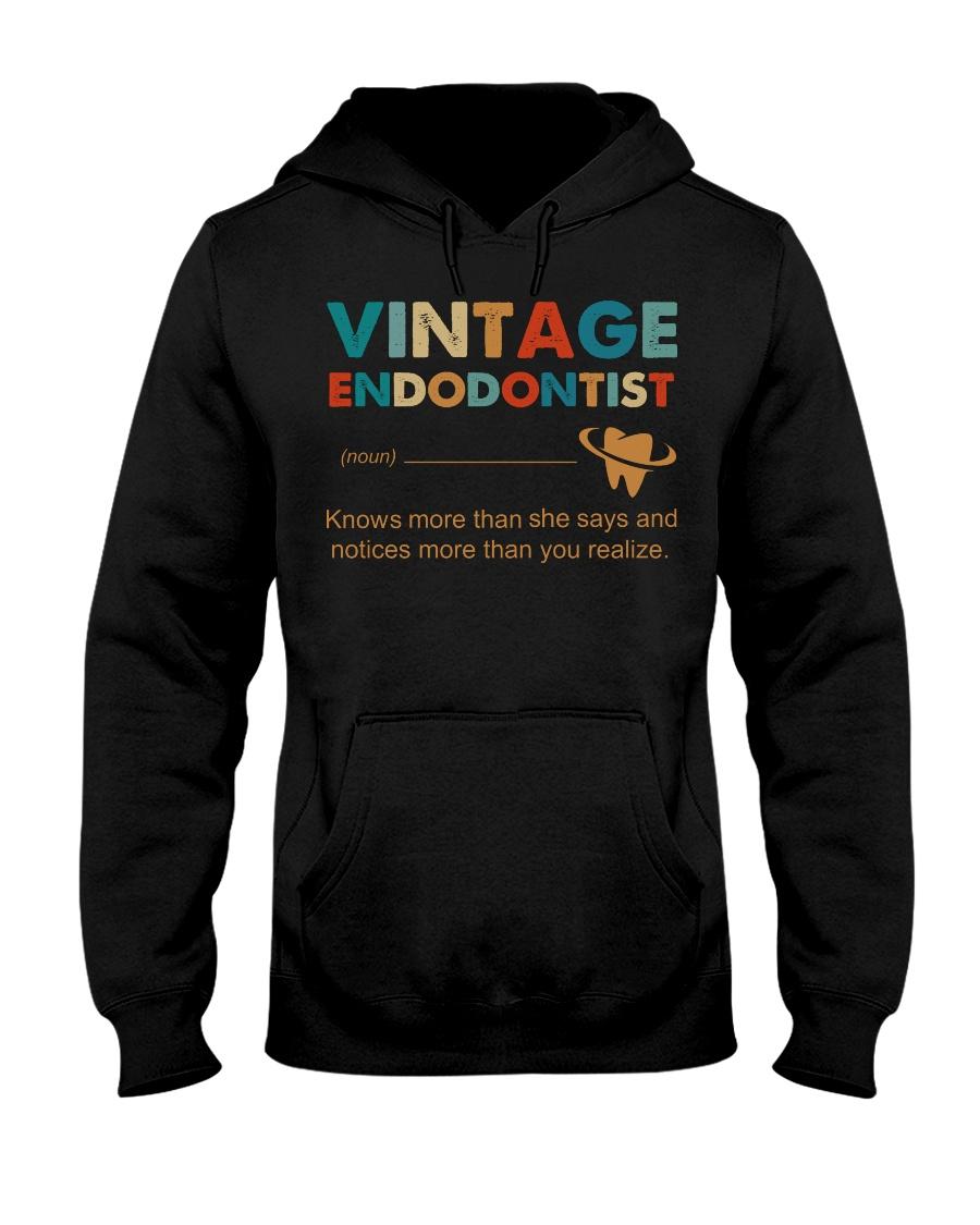 Vintage Endodontist Knows More Than She Says Hooded Sweatshirt