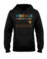 Vintage Endodontist Knows More Than She Says Hooded Sweatshirt front
