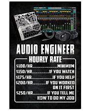Audio Engineer Hourly Rate 11x17 Poster front
