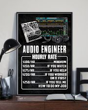 Audio Engineer Hourly Rate 11x17 Poster lifestyle-poster-2