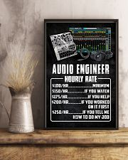 Audio Engineer Hourly Rate 11x17 Poster lifestyle-poster-3