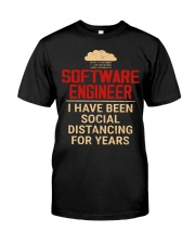 Software Engineer Social Distancing1 Classic T-Shirt front