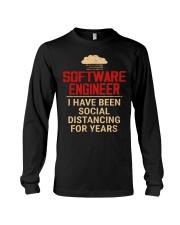 Software Engineer Social Distancing1 Long Sleeve Tee thumbnail