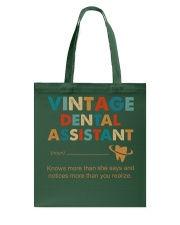 Vintage Dental Assistant Knows More Than She Says Tote Bag thumbnail