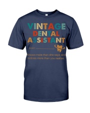 Vintage Dental Assistant Knows More Than She Says Premium Fit Mens Tee thumbnail