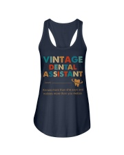 Vintage Dental Assistant Knows More Than She Says Ladies Flowy Tank thumbnail