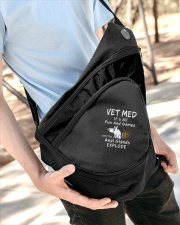 Vet Med Fun and Games Sling Pack Sling Pack garment-embroidery-slingpack-lifestyle-08