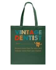 Vintage Dentist Knows More Than He Says Tote Bag thumbnail