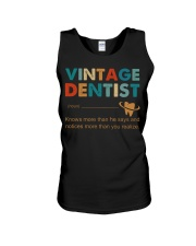 Vintage Dentist Knows More Than He Says Unisex Tank thumbnail