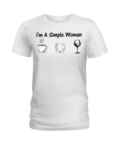I'm a simple woman coffee horse wine