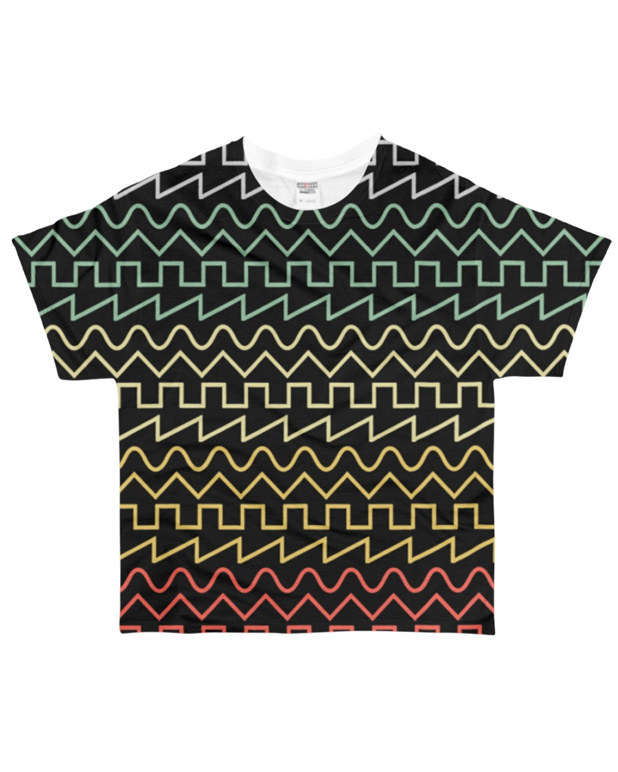 Audio Waveform All-over T-Shirt