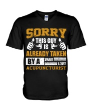 Sorry This Guy Taken By Acupuncturist V-Neck T-Shirt thumbnail
