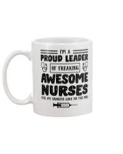 Proud Leader Of Awesome Nurses Gift For Nurse Boss Mug back
