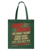 Grumpy Engineer Do What I Want Tote Bag thumbnail