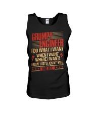 Grumpy Engineer Do What I Want Unisex Tank thumbnail