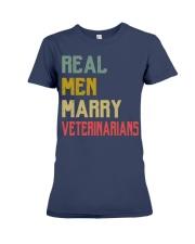 Real Men Marry Veterinarians Premium Fit Ladies Tee thumbnail